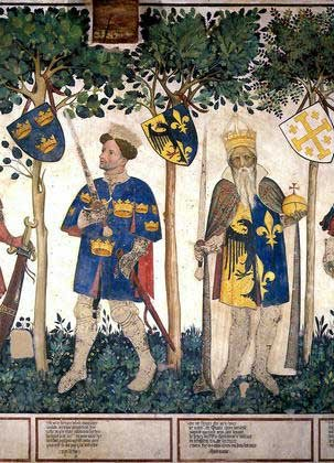 King Arthur and Emperor Charlemagne