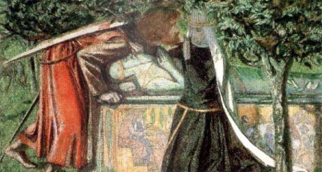 Lancelot and Guinevere at the Tomb of Arthur