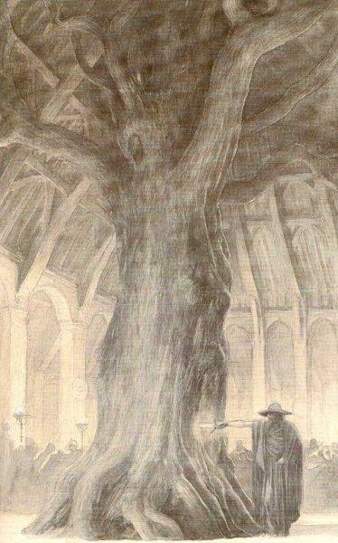 Odin sheathed a sword into Branstock