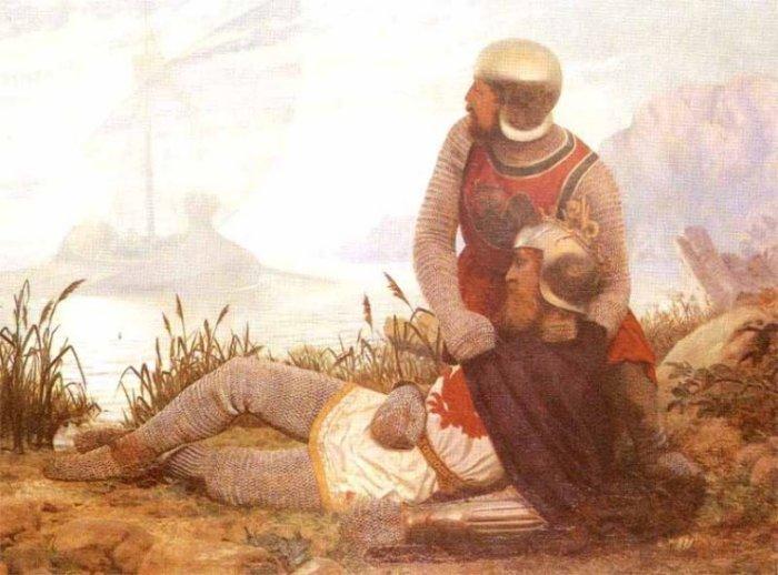 Bedwyr and Dying Arthur