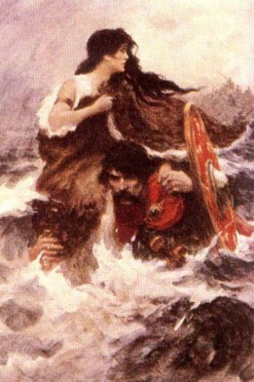 Naoise flees carrying Deirdre