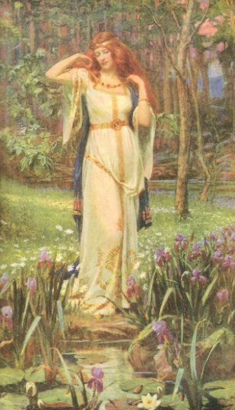 Freyja wearing the Brisingamen