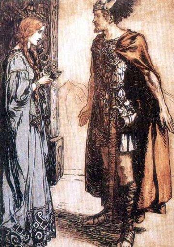 Grimhild with Sigurd