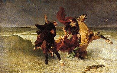 The Flee of King Gradlon