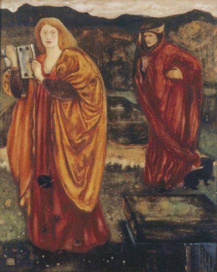Nimue (Niniane) and Merlin