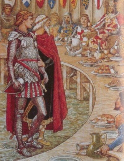 Galahad is Introduced to the Arthur's Court