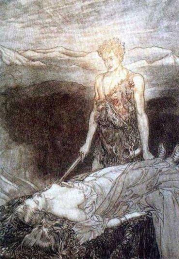 Sigurd and the Sleeping Brynhild
