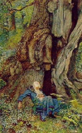 Merlin Sleeping in the Woods