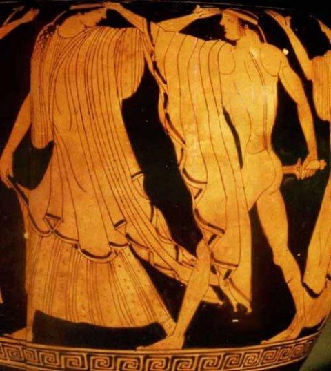 Orestes Slaying Aegisthus