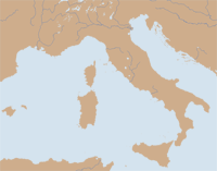 Map of Italy and Sicily