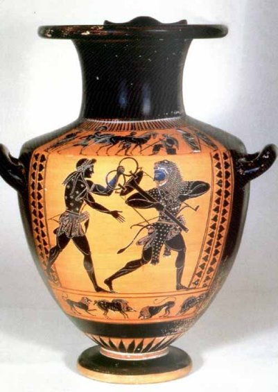 Apollo and Heracles Fights Over the Tripod